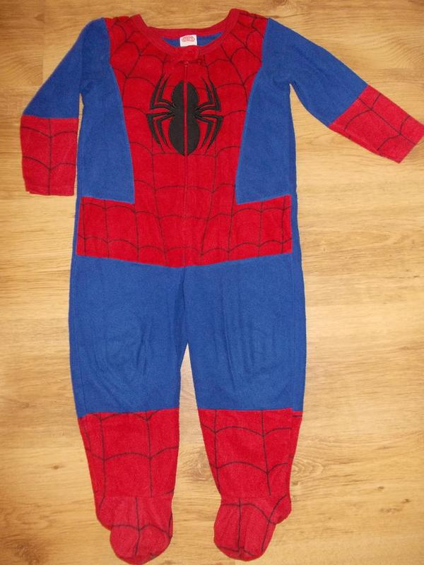 Пижама кигуруми слип комбинезон человек паук на 2-3 года 92-98см1 ... 7730447d6f0fe