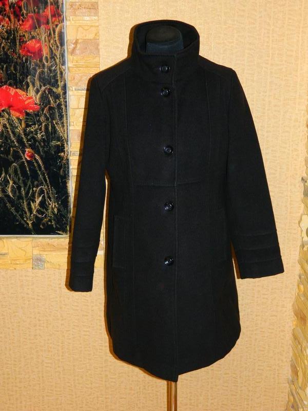 Пальто женское черное демисезонное кашемир на пуговицах размер 46-48  petite1 ... 35c28ded3bcc8