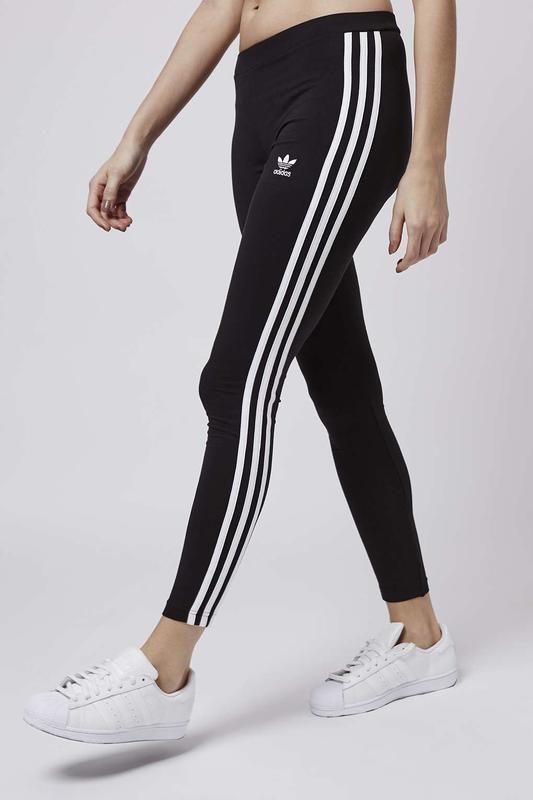 d4314ada1eabf Черные леггинсы с тремя полосками adidas originals adicolor Adidas ...
