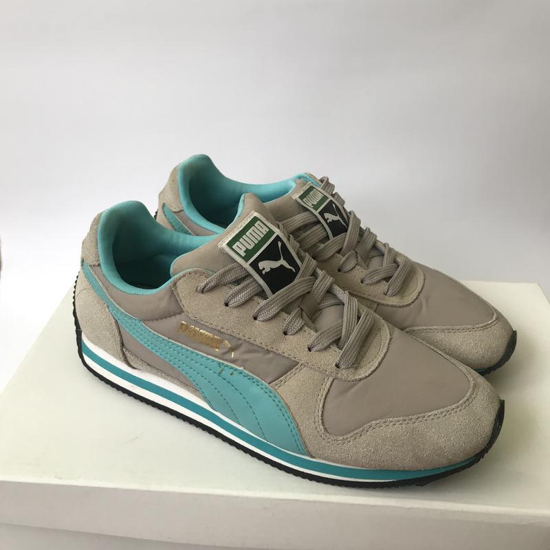 510e02109299 Серые замшевые кроссовки puma. 22,5 см 36 размер. голубые кроссовки.1 ...