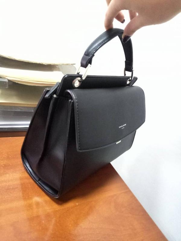 7195a8a22df4 ... Сумка-чемодан (трапеция) от david jones cm3920 black (черный)4 фото ...