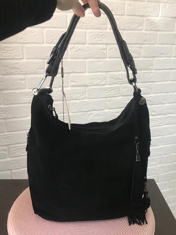 c3e966eda550 Замшевая сумка-мешок, цена - 1200 грн, #16382960, купить по ...