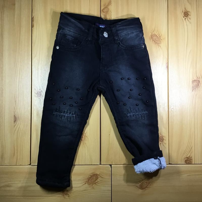 9ef9bb1c77b123e Детские утепленные джинсы на травке для девочки рр. 80-128 beebaby (бибеби)  ...