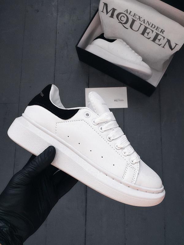36 37 38 39 40 отличные женские кроссовки кеды alexander mcqueen white  black белые1 ... 08d7bade793f8