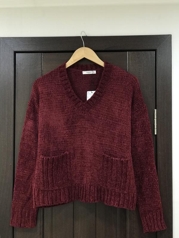 ❄️распродажа до 31.12.2018❄️новый бархатный свитер mango шикарного винного  цвета1 ... 8648fb7322f07