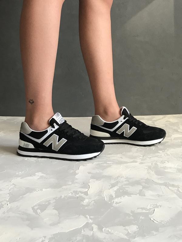 e048cd5d3a5390 36 37 38 39 40 отличные женские кроссовки new balance 574 black white белые  чёрные1 фото ...