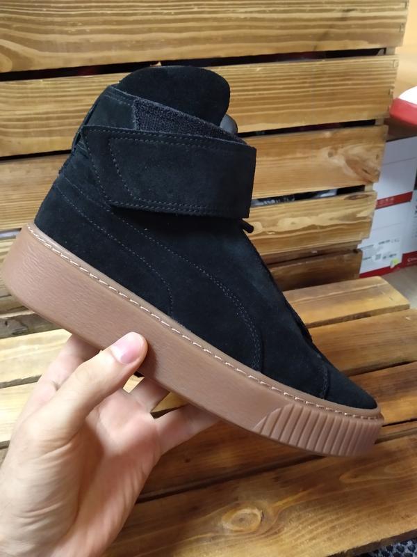 Кросівки високі жіночі puma platform mid black оригінал нові Puma ... 377dd83a656db