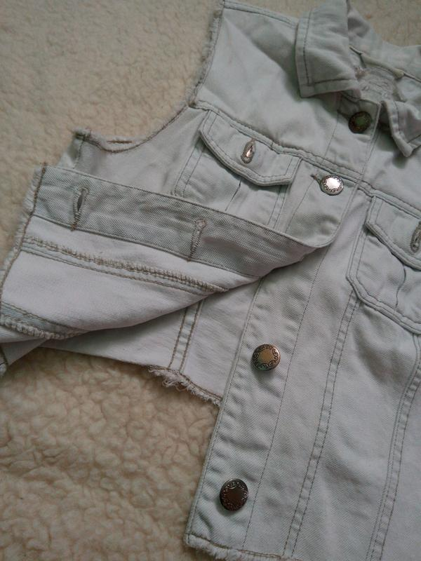 джинсовка без рукавов 2