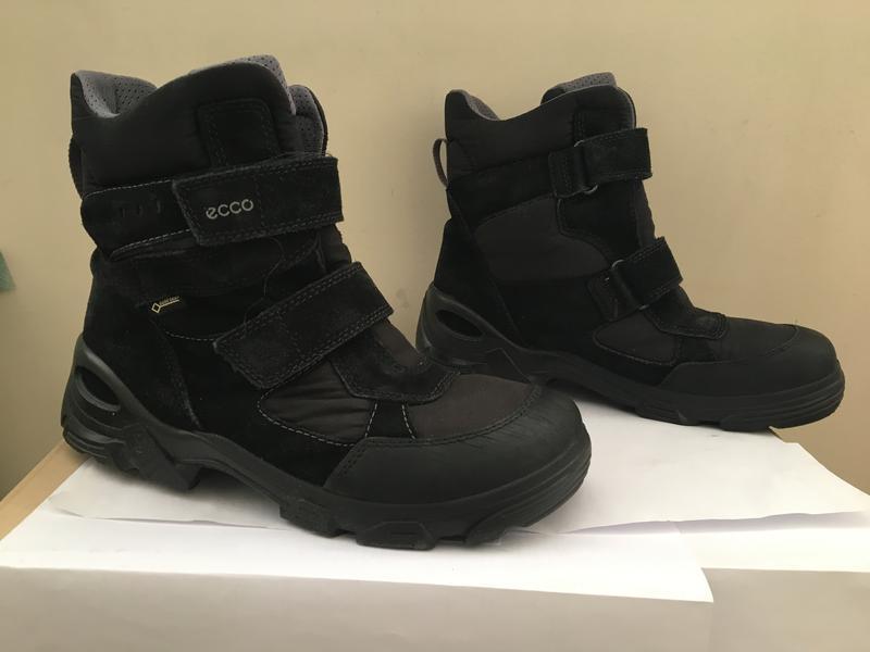 Ботинки зима деми ecco чёрные р40 26см отличное состояние для мальчика1 ... b11418d6c541a