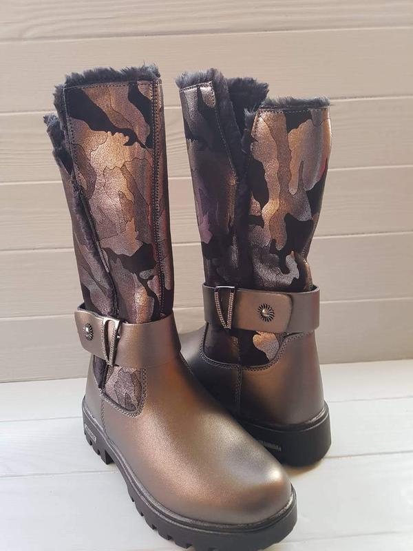1e4e9347a64e84 ... Зимние подростковые сапоги ботинки для подростка підлітка зимові чоботи  черевики р.33-384 фото