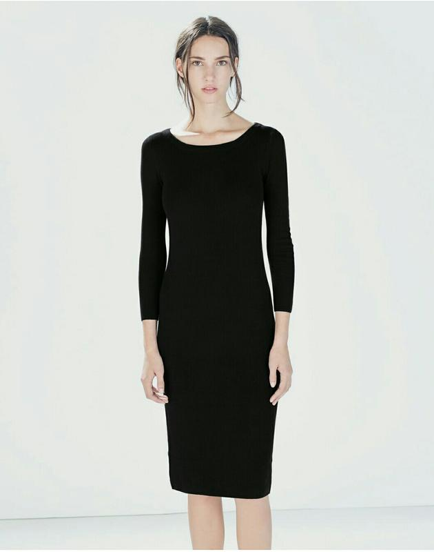 53b5c23e3794a80 Платье резинка / в рубчик / футляр / трикотаж ZARA, цена - 320 грн ...
