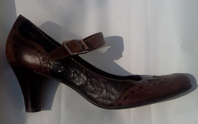 2f649550c Кожаные демисезонные туфли устойчивые фирменные tamaris р.38 германия1 фото  ...