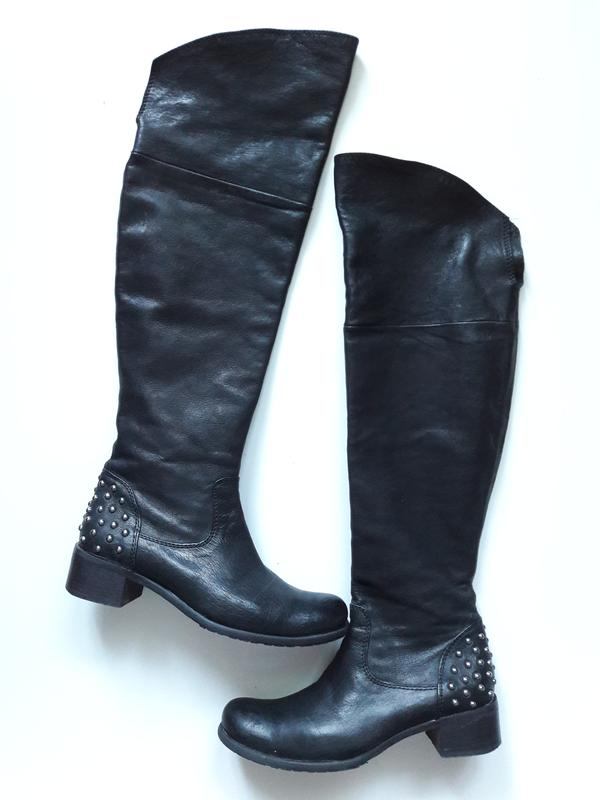 Натуральные кожаные сапоги ботфорты...демисезоные... за 600 грн.  d1697149f6730