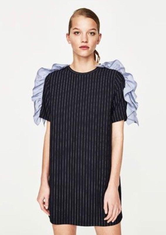 891be09b1cd Платье в полоску из костюмной ткани zara1 фото ...