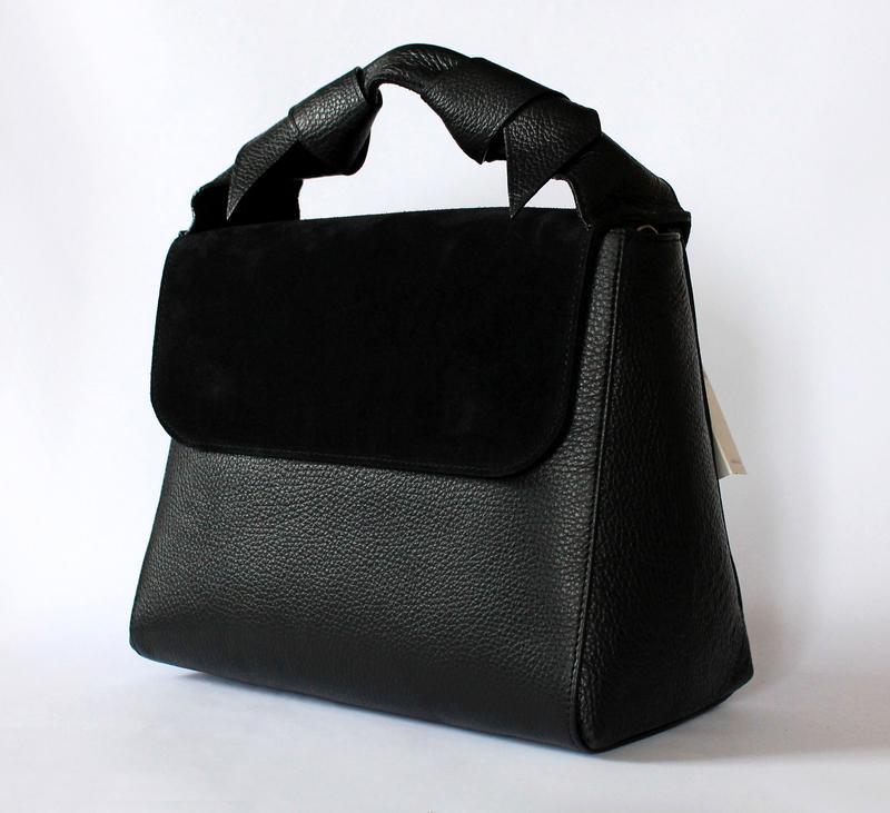 Итальянская черная кожаная (натуральная кожа замша) сумка, италия1 ... 2801c461633