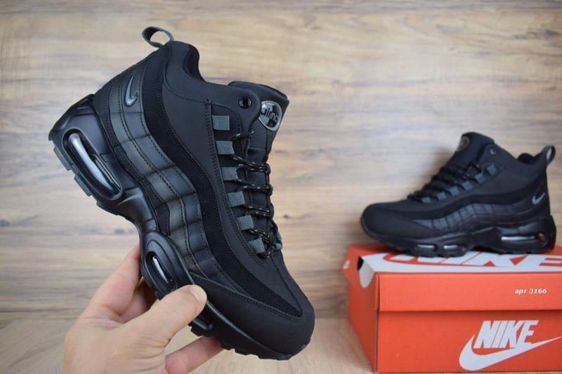 a605334dcbbc 41-46 nike air max 97 нат кожа зимние кроссовки ботинки на густом меху  мужские ...