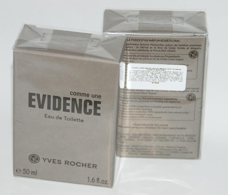туалетная вода Comme Une Evidence Homme ив роше Yves Rocher цена