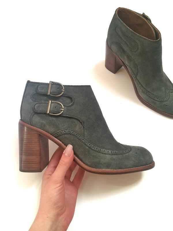 efe49261cade Кожаные ботильоны see by chloe оригинал, брендовые замшевые сапоги ботинки1  ...