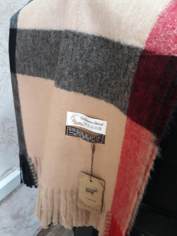 10e86bc557fc 💓роскошный бежевый шарф плед клетка шерстяной качество люкс, цена ...