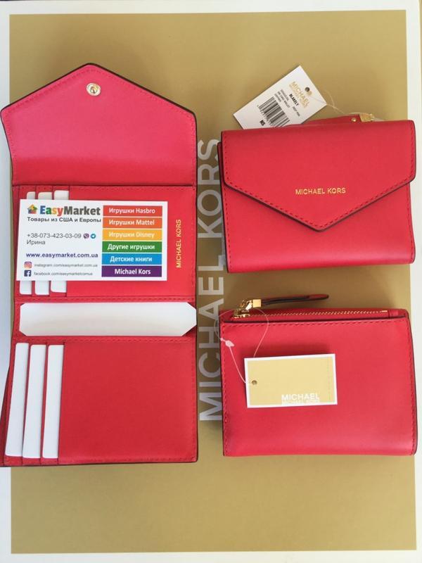 86c324e0495935 Маленький кошелек michael kors jet set small leather envelope wallet  оригинал1 фото ...