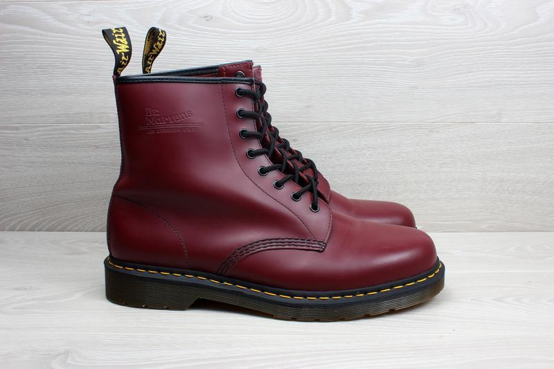 95ee19e2 Кожаные мужские ботинки dr.martens 1460 оригинал, размер 47 (вишневые,  cherry) ...