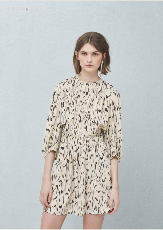 0fb6b2856db Красивое стильное брендовое платье мини в модный принт Mango