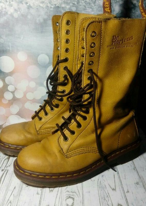 e629b3a9d3a5 Dr. martens желтые кожаные сапоги берцы Dr. Martens, цена - 550 грн ...