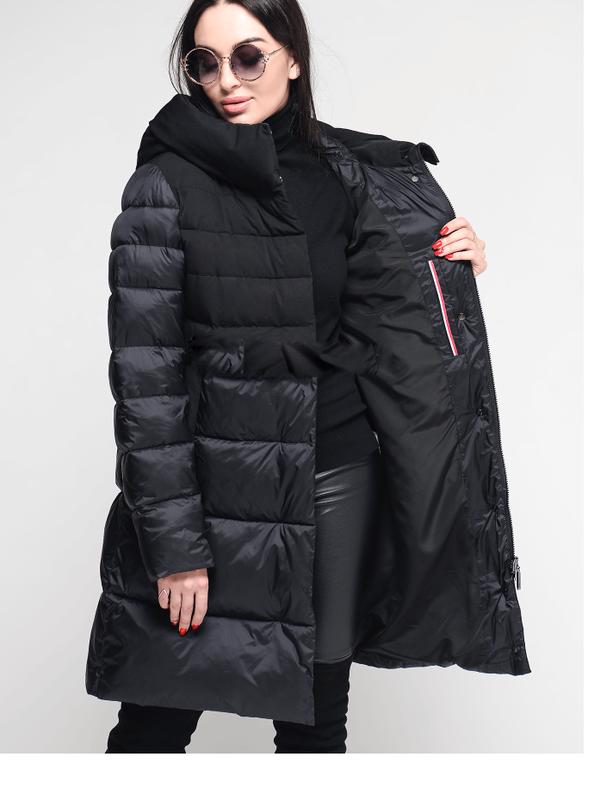 259e4a7a134a0 Женская зимняя куртка, пуховик био-пух clasna cw18d508 l, xl, xxl1 фото ...