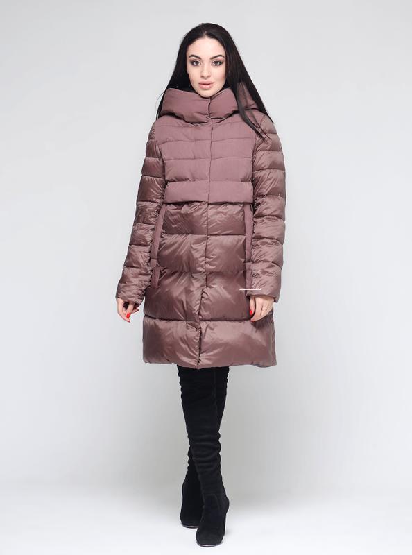 Женская зимняя куртка зима 2019, пуховик био-пух clasna cw18d508 s, m, ... bdb46e2d792