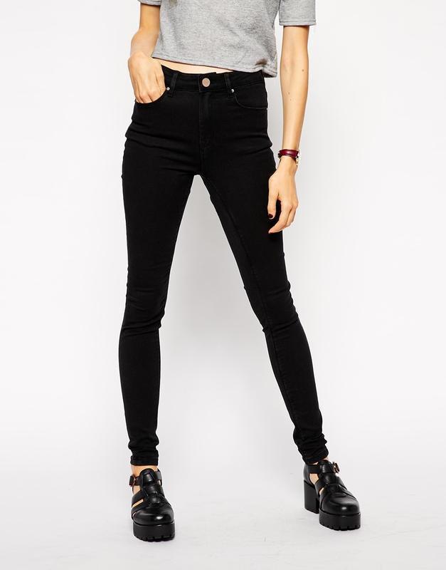 Чорні джинси zara skinny з високою талією ZARA 4a7f6af18138b