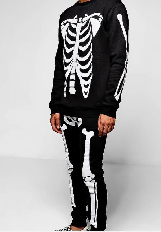 Мужской спортивный костюм boohoo с принтом скелета Boohoo d219eaa7d9829