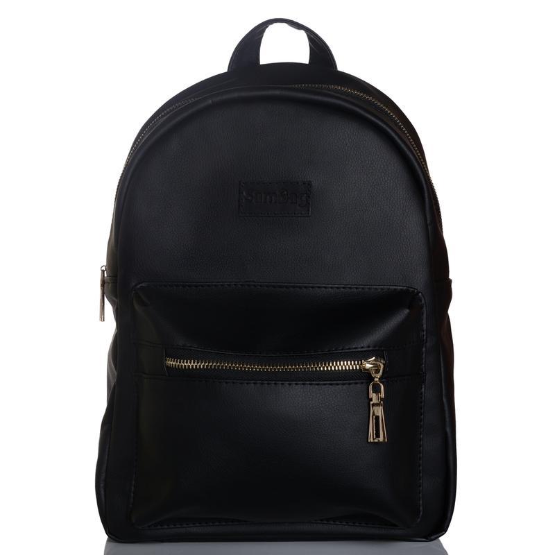 7c35ec40bf2 Стильный женский рюкзак чёрный для прогулок