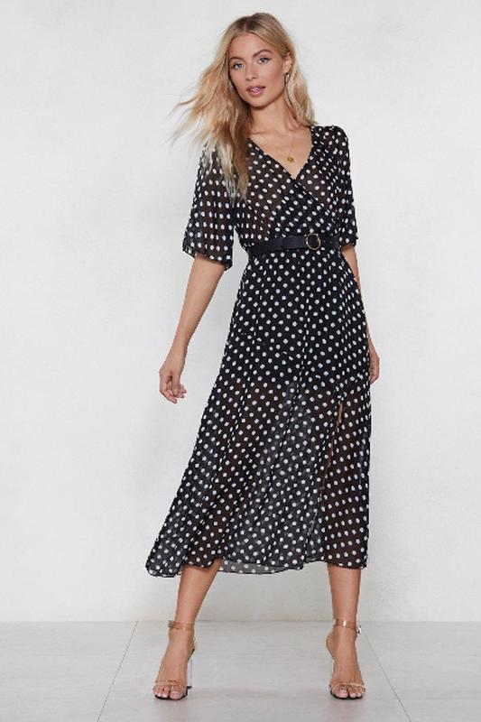 Moдное шифоновое платье в горох nasty gal s-m сша, цена - 450 грн ... 8ab271d1e96