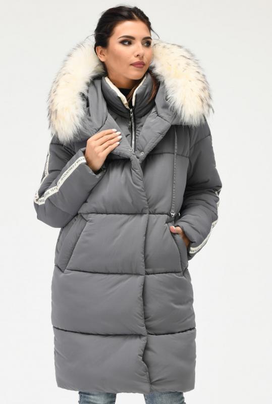 Длинная зимняя куртка парка для женщин, очень стильная и теплая1 ... 851f50082e0