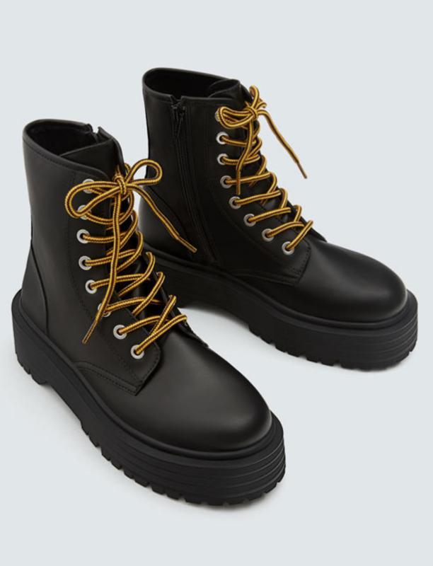 Ботинки на платформе pull and bear размер 36 37 38 39 40 411 ... dbd84632735