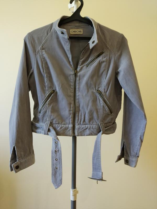 Стильна трендова вельветова сіра жіноча куртка. Cherokee 6e9a6bbfbd8e7