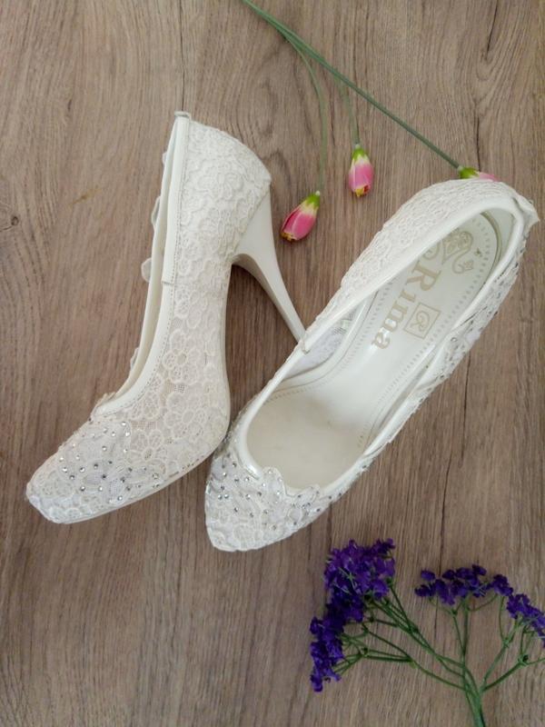 0659d109b Ажурные белые свадебные туфли/лодочки, цена - 749 грн, #16785055 ...