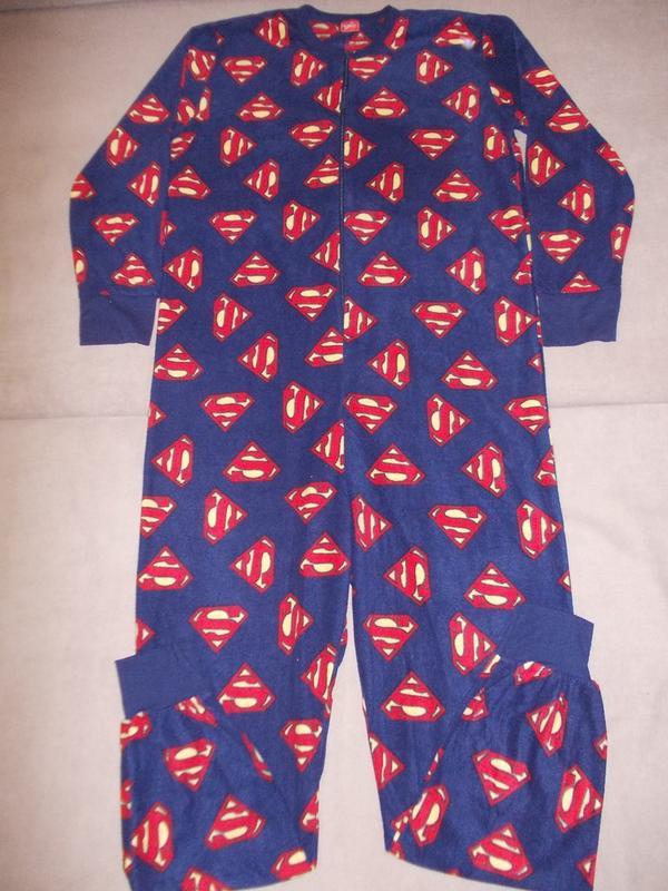 Пижама слип кигуруми комбинезон супермен р.s-м1 ... 1882bf437d413