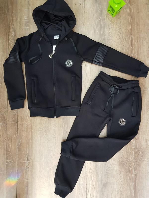 e562f7cf Тёплый спортивный костюм philipp plein для мальчика подростка р.128-1761  фото