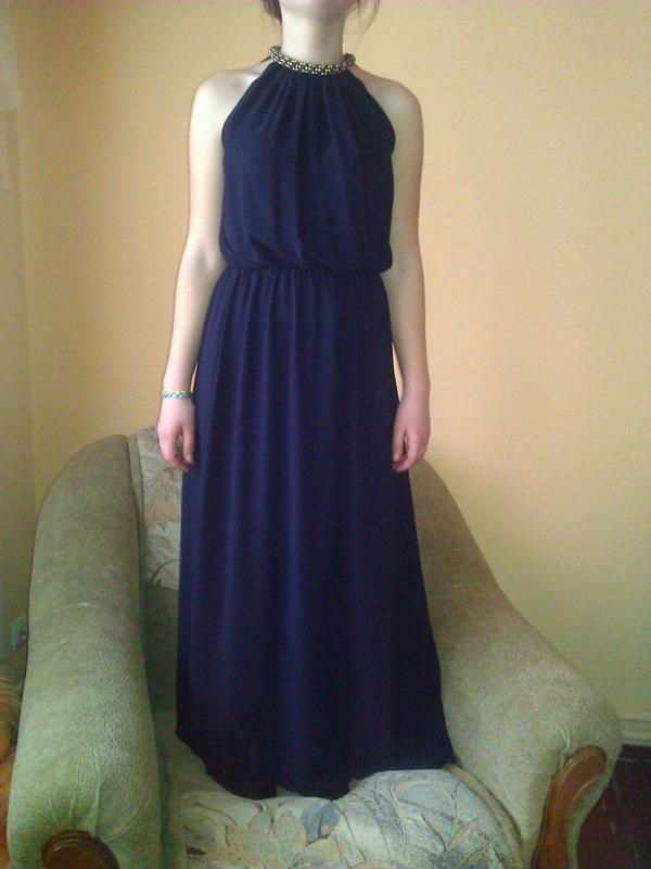 601c7877571589 Довге темно синє плаття, цена - 550 грн, #1940464, купить по ...