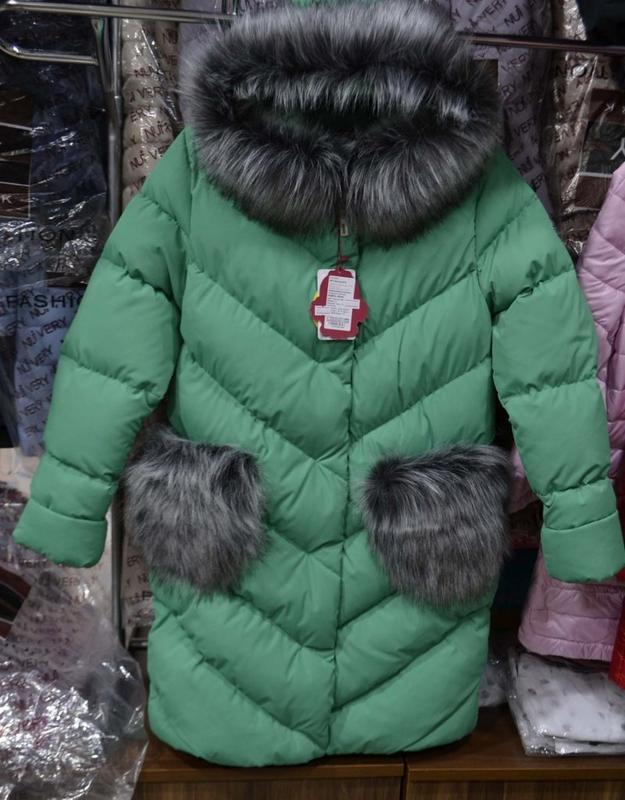 Детская зимняя куртка пуховик для девочки банни,116-158, цена - 1400 ... af035c37e45