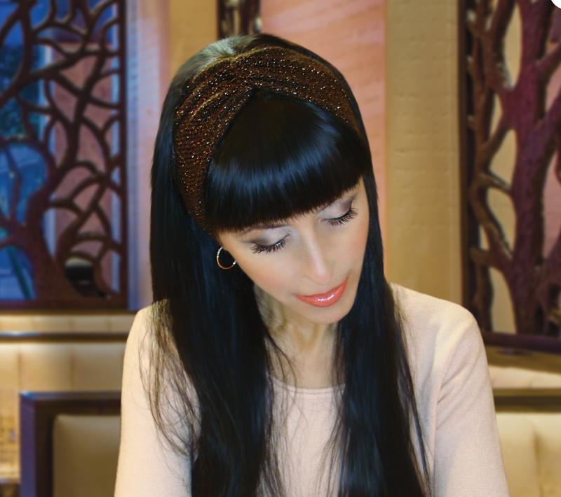 стильная вязаная повязка на голову чалма Twisted цена 500 грн