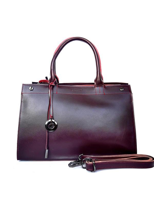 d9a0bb37d1e9 Женская кожаная сумка-саквояж