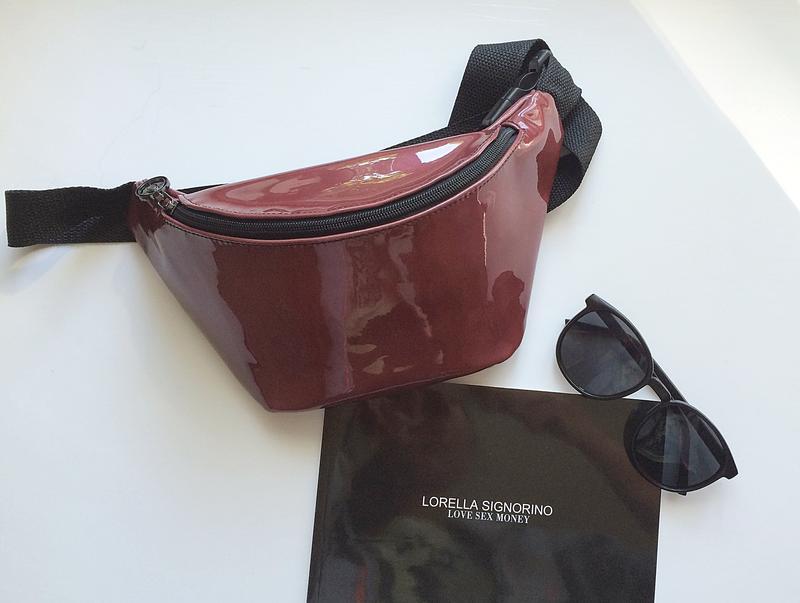 07eddad51f13 Женская сумка , поясная сумка - бананка из экокожи.лак Ручная Работа ...