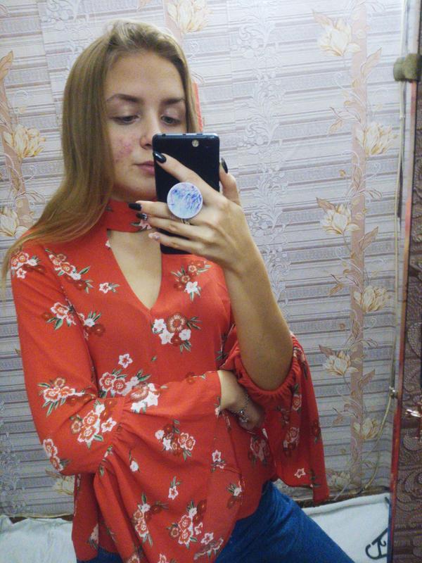 22dc6364e69 ❣ блуза с рукавами воланами