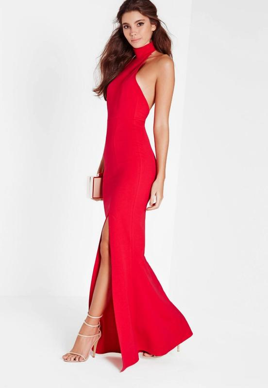 6df82d827fb Красное платье в пол Missguided