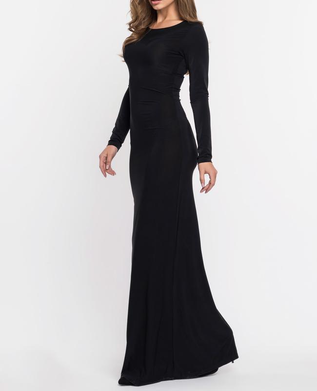 e4f6771c3605 Облегающее женское длинное черное платье в пол, цена - 236 грн ...