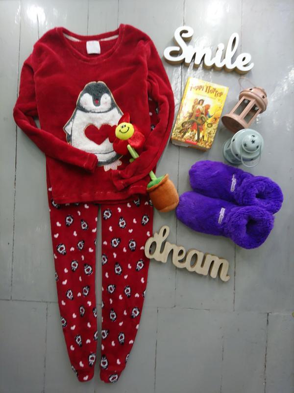 Тёплая махровая пижама с пингвином №53 Fiore Matalan 27e5918875846