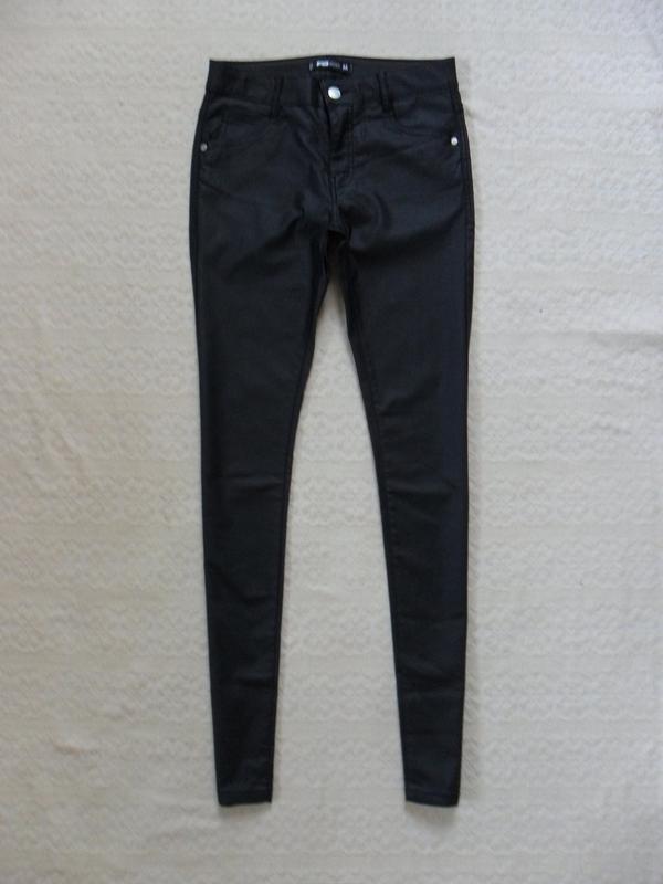 b201847c647 Стильные черные джинсы скинни под кожу fb sister