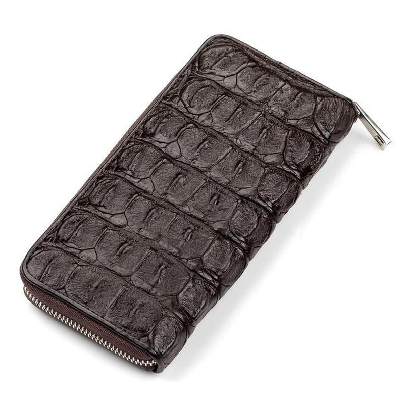a945818e03e9 Кошелек-клатч crocodile leather 18011 из натуральной кожи крокодила  коричневый1 фото ...